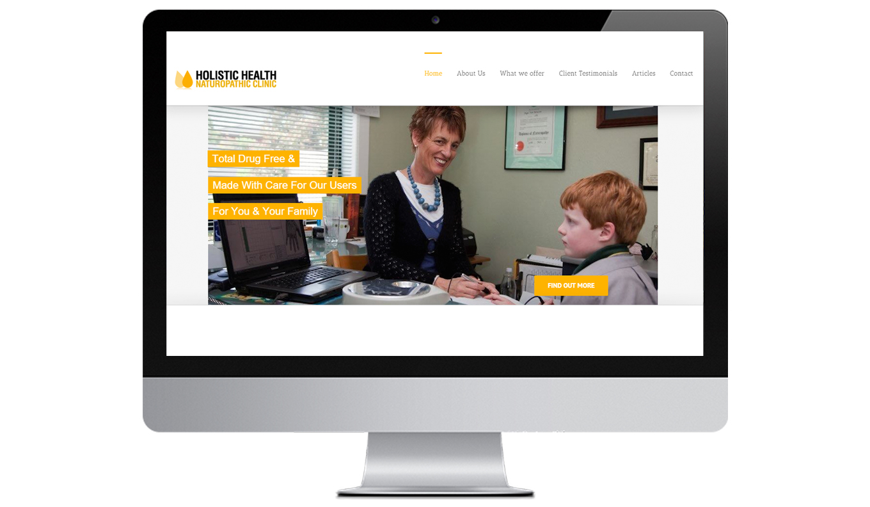 Holistic Health Desktop Website