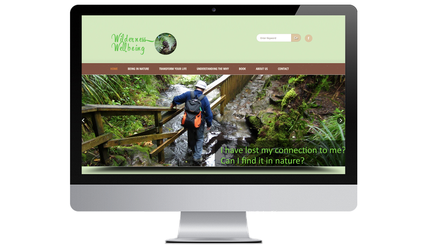 Wilderness Wellbeing Desktop Website