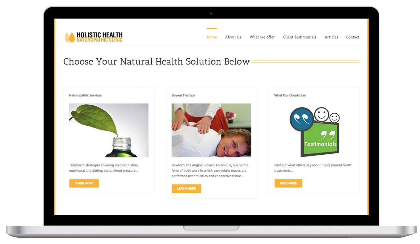 Holistic Health Laptop Website