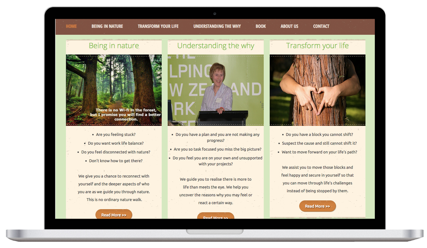 Wilderness Wellbeing Laptop Website