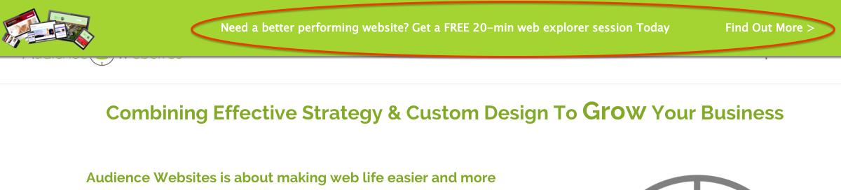 Website Header Section